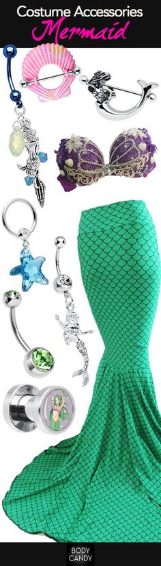 Discover your inner Mermaid this Halloween with mermaid inspired body jewelry www.BodyCandy.com