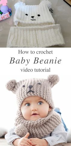 Crochet Baby Hat Crochet Knit By Beja - Free Patterns ! chapeau bébé au crochet crochet knit by beja - modèles gratuits Crochet Baby Hat Patterns, Crochet Baby Beanie, Crochet Baby Clothes, Baby Patterns, Knit Crochet, Crochet Hats, Crochet For Baby, Crochet Baby Stuff, Knitted Baby Beanies