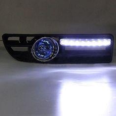 2x Lamp 4LED for VW Golf Jetta Bora Mk4 99-04 Grille Blue Harness