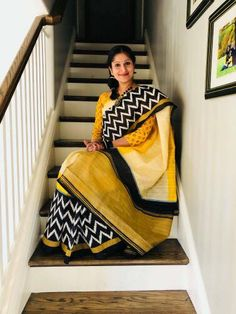 Bengal Looms Diva : Beautiful Rachita in a #Pochampally saree from Bengal Looms.  Thank You so much Rachita for sharing this picture with me.