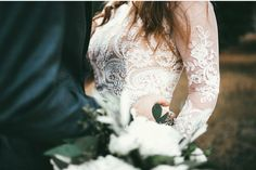 modest wedding dress with long lace sleeves from alta moda. -- (modest bridal gown) --
