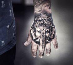 large photo Handphant Geneisha tattoo by Khail Tattooer