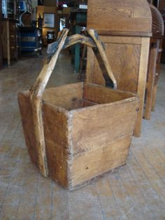 Square wooden well bucket....could hold a number of things!