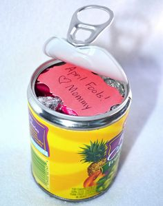 One of my favorite pranks is mixing up the kids' food... I haven't tried this one - open a can from the bottom and switch out the food!