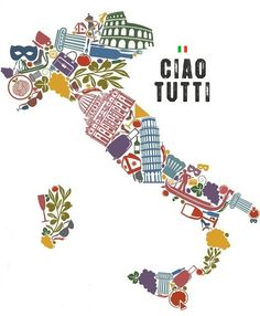 Illustration about Traditional symbols of Italy in the form of a map. Illustration of architecture, glass, food - 29533484 Italy Map, Italy Travel, Italy Italy, Italia Vintage, Vintage Italy, Map Vector, Map Art, Travel Posters, Fine Art America
