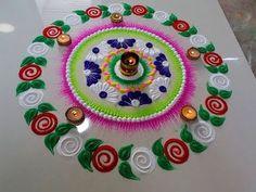 Very beautiful and creative rangoli design by DEEPIKA PANT - YouTube