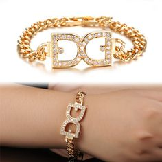 Personality Butterfly Bride Ms Micro Set ircon Jewelry K Gold Plated Bracelet With KS