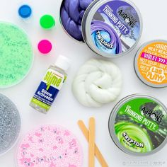 Looking for stocking stuffers? Silly putty and slime are still high on the kid-craze list so be sure to grab some while you can! Unique Gifts For Boys, Gifts For Kids, Great Gifts, Craft Activities For Kids, Crafts For Teens, Putty And Slime, Silly Putty, Business For Kids, Kids Education