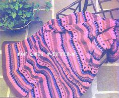💂🏼 Afegão Crochê Luz do Fogo Clássica -  /  💂🏼 Vintage Firelight Afghan Crocheting -