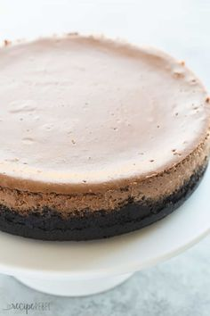 This is the BEST Chocolate Cheesecake! It's perfectly rich, creamy, and bakes up with no cracking and no water bath. The easy way to perfect cheesecake [VIDEO]