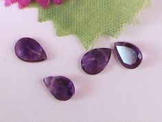 Amethyst gemstone beads - Round, facetted coins, facetted drops
