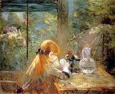 On The Veranda - Berthe Morisot - (French: 1841-1895)