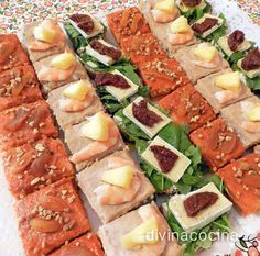 You searched for canape - Divina Cocina Snacks Für Party, Appetizers For Party, Appetizer Recipes, Antipasto, Ideas Para Canapés, Catering, Best Party Food, Salad Bar, Mini Foods