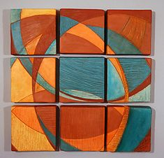 Nine Tiles: Liza Halvorsen: Ceramic Wall Art | Artful Home