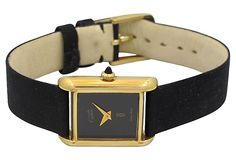 1980s Cartier Ladies Tank w/ Black Dial on OneKingsLane.com   $2,299.00