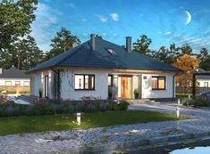 DOM.PL™ - Projekt domu ARP TRYTON 3 B CE - DOM AP2-28 - gotowy koszt budowy House In The Woods, Gazebo, House Plans, Sweet Home, Outdoor Structures, Cabin, Mansions, Architecture, House Styles