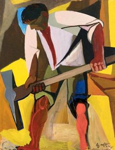 Guttuso, Renato 1947 Sulfur Miner