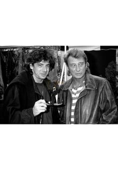 Johnny Hallyday & Patrick Bruel - ©Jean-Marc Rouget/WallBackstage