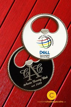 Look at this custom challenge coin weve created for Dell Technologies World Golf Championship.