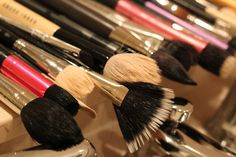 Nothing like cleaning makeup brushes!