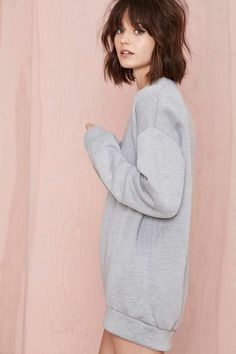 Nasty Gal Dillon Sweatshirt Layer it with a collared shirt underneath and thigh highs or just wear as is with sneakers or cool ankle boots either way it will look good. Looks so comfy I need it!