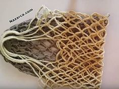 Main-tricotage Tigli-net-how-to-market est tenu - Filet Crochet, Knit Crochet, Net Bag, Crochet Handbags, Market Bag, Easy Crochet Patterns, Models, Crochet Clothes, Lana