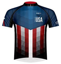 d04d7f53c Primal Wear American Patriot USA Flag Cycling Jersey Mens XL Short Sleeve  -- Want additional