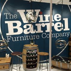 Some great pieces of furniture up-cycled from wine barrels! Grand Designs Live, Wine Barrels, House Doctor, Bar Furniture, Interior, Home Decor, Decoration Home, Room Decor, Design Interiors