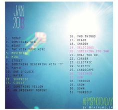Instagram January Photo Challenge... I'm obviously too late, but maybe next January! #fmsphotoaday