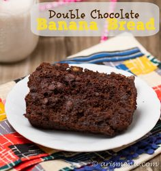 Ultra soft Double Chocolate Banana Bread--so decadent, you'd never know it was gluten-free with no butter or oil!