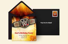 Free WWE Championship Invitations