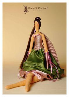 Aquarius Fairy  - Beautiful handmade Fairy in Tilda style. zł200,00, via Etsy.