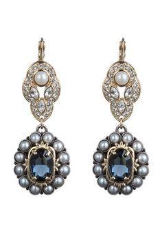 Mawi, Sapphire & Seed Pearl Earring