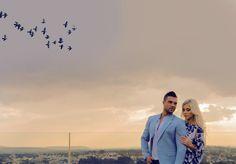 Sky line couple photo shoot