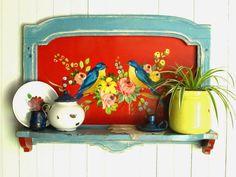 pintura de passarinho em pareleira