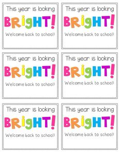 Back-to-School Student Gift Tags...A Freebie for You!