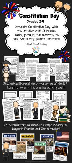 With passages and activities about the Articles of Confederation, Writing of the U.S. Constitution, Constitutional Convention, and Bill of Rights. It also has case studies on George Washington, Ben Franklin, and James Madison!
