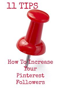 Pinterest  Tutorial: How to increase your pinterest followers