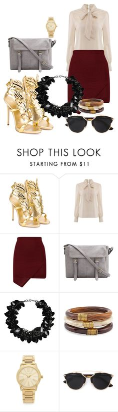 """""""Wear a gold,be a gold"""" by dzenita-219 on Polyvore featuring moda, Giuseppe Zanotti, First People First, Chico's, Michael Kors, Christian Dior, women's clothing, women, female i woman"""