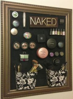 Sparkle & Mine: Magnetic Makeup Board. Genius.