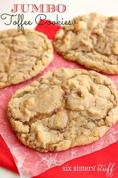 Jumbo Toffee Cookies on SixSistersStuff.com