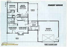 Log Home Design Plan and Kits for Forest Grove