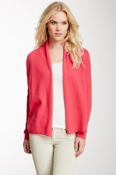 Open Front Cashmere Cardigan by In Cashmere