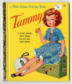 Tammy & her little sister Skipper!  Tammy  paper doll book  1963  ArtistAda Salvi