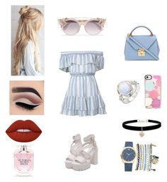 """All about bieng beautiful‍♀️"" by saraalhussain-ksa on Polyvore featuring LoveShackFancy, Casetify, Jimmy Choo, Mark Cross, Betsey Johnson, Mixit, Lime Crime and Victoria's Secret"