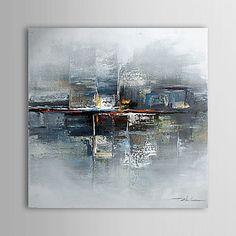 peinture à l'huile abstraite toile peinte à la main 1304-ab0486 – USD $ 54.99