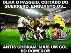 Olha o passeio, coitado do Guerrero, enquanto vc lia, mais um gol do Romero!!!