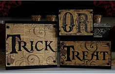 "Creative ""Try""als: Trick or Treat Wood Blocks"