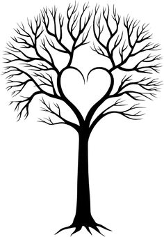 The best family tree tattoo ideas with names, initials, ideas - ideas. - The best family tree tattoo ideas with names, initials, ideas – ideas - Stencils, Initial Tattoo, Tree Clipart, Flower Clipart, Clipart Images, Heart Tree, Tree Silhouette, Motif Floral, Silhouette Cameo Projects