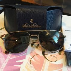 Brooks Brothers aviators Gold aviators. Classic BB. New and amazing. Comes with dust cloth, case and info in brand. Brooks Brothers Accessories Sunglasses